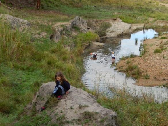 20140402 kids in Yabby Creek