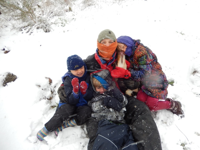 20150713 snow day 2 - Pete and kids
