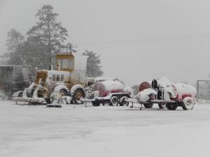 20150713 snow day 2 - farm equipment snowed under