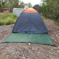 Archie's tent setup