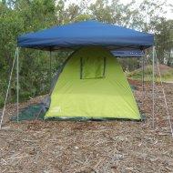 Izzy's tent setup