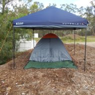 Charlie's tent setup