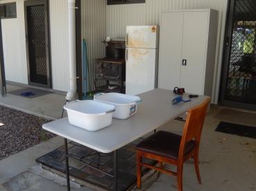 kitchen set up so far