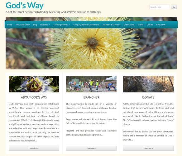 GW blog home page screenshot